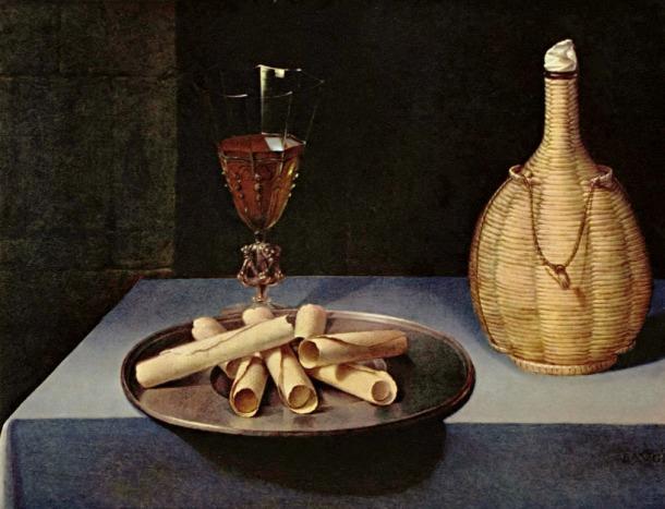Le Dessert aux gaufrettes, Lubin Baugin