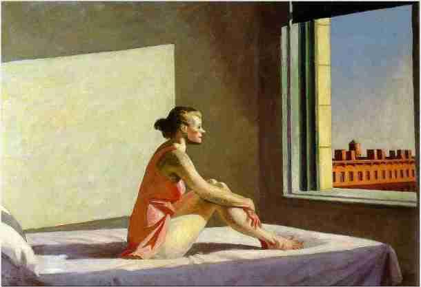 """""""Soleil du matin"""", Edward Hopper"""