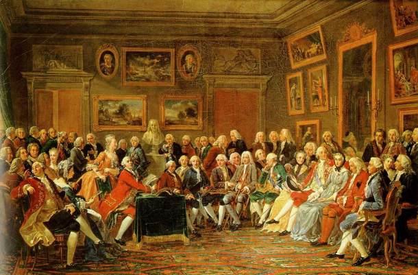 """Le salon de Mme Geoffrin en 1755"", Anicet Charles Gabriel Lemonnier (1812)"
