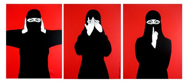 """Hear no evil, see no evil, speak no evil"", Hanna Habibi"