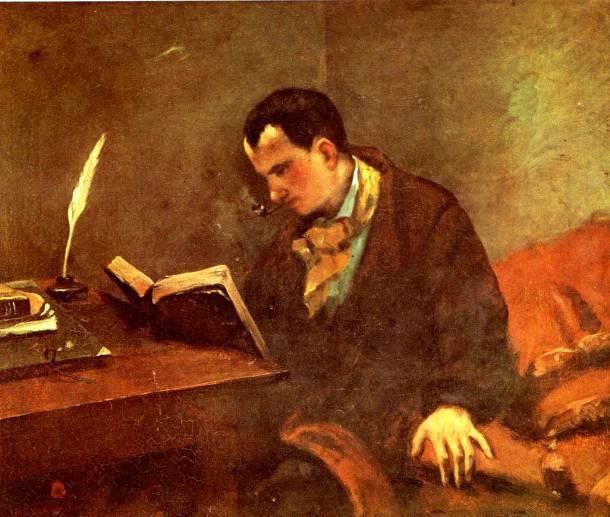 Portrait de Charles Baudelaire, Gustave Courbet