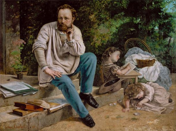 """""""Proudhon et ses enfants"""", Gustave Courbet (1865)"""