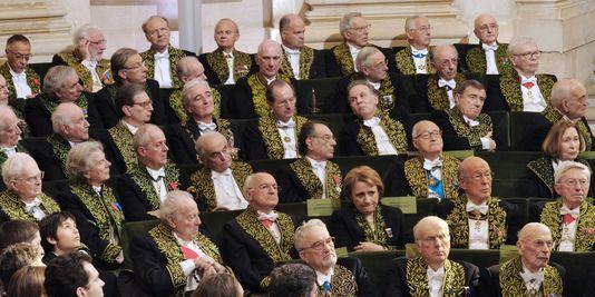 Quelques Immortels dans l'assemblée de l'Académie Française