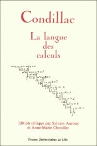 """""""Le langage des calculs"""", Condillac (Presse Universitaire de Lille)"""