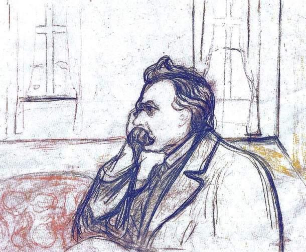 Portrait de Nietzsche, Edvard Munch