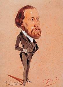 Alfred de Musset, Eugène Giraud (aquarelle)