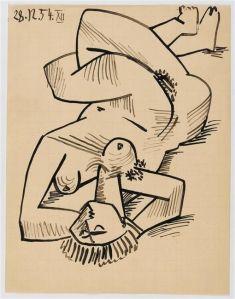 """Etude pour """"Les femmes d'Alger"""" d'après Delacroix, Pablo Picasso (Réunion des Musées Nationaux-Grand Palais)"""