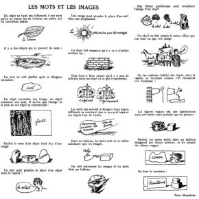 Magritte, une esthétique dumot