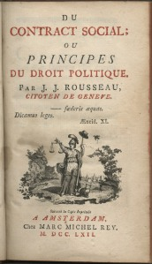 """Couverture du """"Contrat Social"""" de Rousseau"""