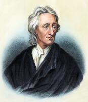 John Locke, à partir d'une gravure en couleur de Godfrey Kneller