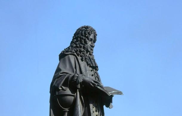 Leibniz, Denkmal in Leipzig - Leibniz / Memorial / Leipzig / Sculpture -