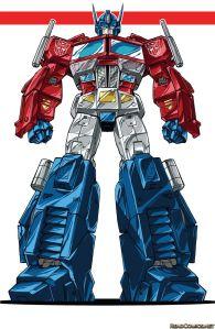 7a61ae7c4aba970a866cfed8aafb39f2-transformers-optimus-prime-comic-art